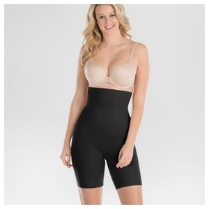 Assets By Spanx Black High Waisted Mid Thigh Short